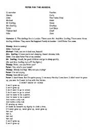 Peter Pan The Musical Play Script