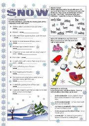 English Worksheets: Snow