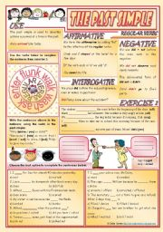 English Worksheet: Past Simple Pack - regular verbs [rules, examples & exercises] - keys included ((2 pages)) ***editable