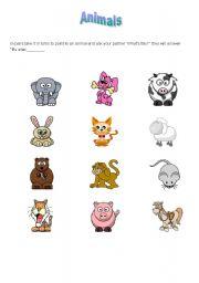 English Worksheets: Animal fun part 1