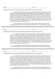 English Worksheets: predicting ourcomes worksheet