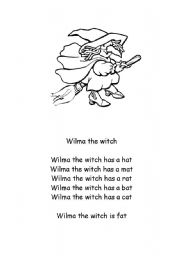 English Worksheets: Wilma the witch