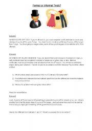 English Worksheets: Formal, Informal and Spoken English