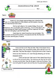 English Worksheets: End-term test: reading- language- writing