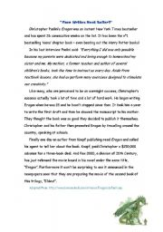 English Worksheets: Teen writes best seller