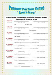 Exercises - Verbs & Present Perfect Tense [3/8]