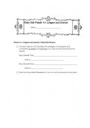 English Worksheets: Fairytale Template