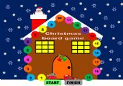 English Worksheets: Christmas board game/ Christmas game  - young learners