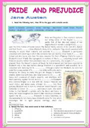 English worksheets: Pride and prejudice