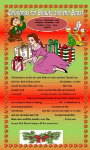 English Worksheet: Comprehension - Christams for Beauty and the Beast