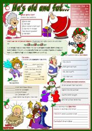 English Worksheets: HE�S OLD AND FAT...
