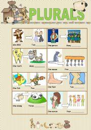 English worksheet: Plurals