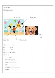 English worksheet: Personal pronouns and age