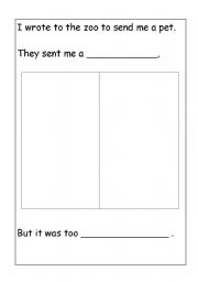 English Worksheets Dear Zoo Letter