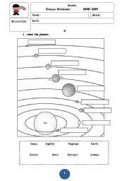 Worksheets Solar System Worksheets english teaching worksheets solar system the system