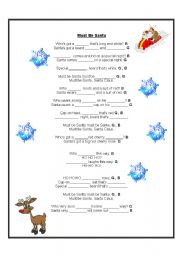 English Worksheet: Must be Santa song