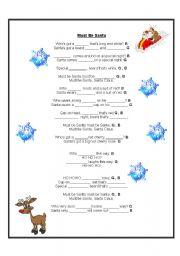 English Worksheets: Must be Santa song
