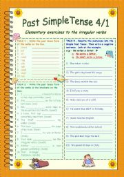 Past Simple Tense 4/1 * Irregular verbs part 2 * 3 pages exercises + Answer key