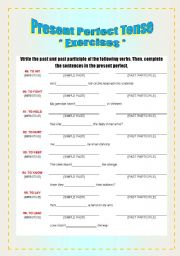 Exercises - Verbs & Present Perfect Tense [4-8]