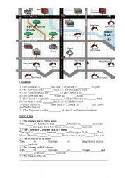 English Worksheet: Map directions worksheet