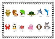 English Worksheets: Animals - set 2