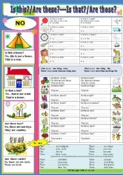 English Worksheets: Is this? / Are these ?--Is that? / Are those?