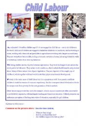 English Worksheet: Reading: Child Labour