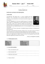 English Worksheets: Mourinho - Reading Comprehension and Use of English