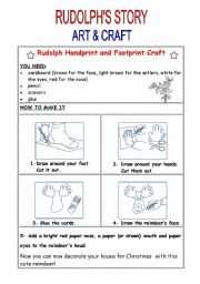 English Worksheet: Rudolph�s Story-part 3
