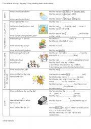 English Worksheets: Writing a biography