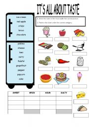 Food worksheets pdf esl