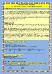English Worksheet: science or Fiction ( 3rd term exam - 2as ´ foreign languages) Algeria