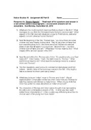 English Worksheets: Smoke Signals - Movie based questions