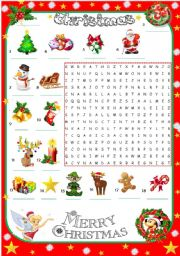 CHRISTMAS wordsearch 2/2 EDITABLE
