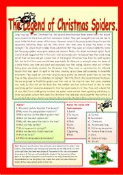 Adaptable image for legend of the christmas spider printable