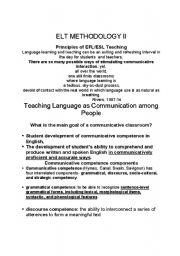 English Worksheets: elt methodology