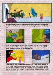 English Worksheets: How The Grinch Stole Christmas! Plot Summary Part 2