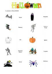 English worksheets: Halloween Matching Worksheet