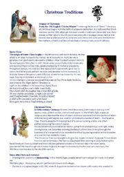 English Worksheet: Christmas Traditions Quiz - intermediate/upper-intermediate