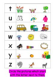 Worksheets Initial Sound Worksheets english teaching worksheets initial sounds from t z