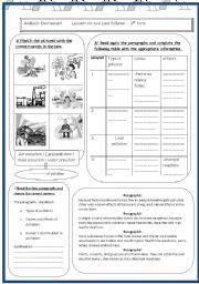 lesson 1 module3 pollution - ESL worksheet by yousri