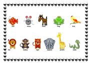 English Worksheets: Animals - set 3