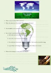 English Worksheets: The green leaflet