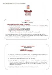 English Worksheets: Creating a company in your class, organizing the Opening Meeting & Daily Routine