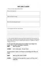 English Worksheets: Car Racing worksheet