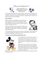 Reading Comprehension Walt Disney
