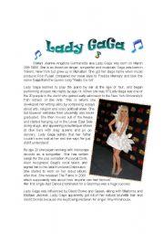 English Worksheets: Lady GaGa Activity