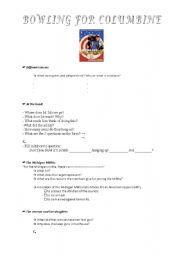 English Worksheet: Bowling for Columbine 1