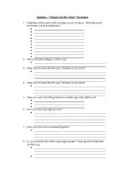 English Worksheets: Eminem Cleanin� Out My Closet Worksheet