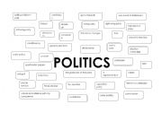 English Worksheet: politics vocabulary part 1
